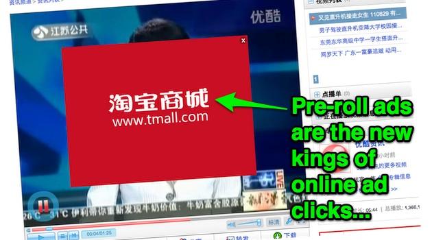 中国点击量前10位的网络广告形式