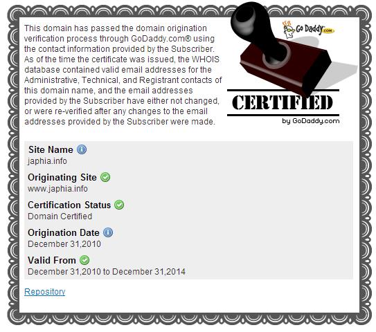 Godaddy域名证书