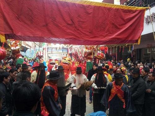 榆中社火春官祭拜仪式
