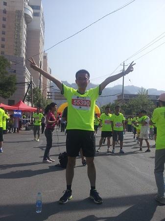 2014兰州马拉松10公里终点