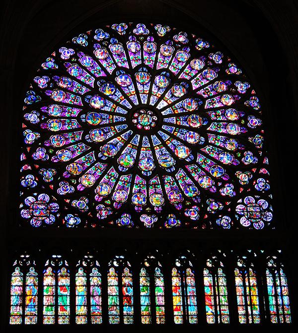 巴黎圣母院 玫瑰花窗